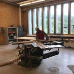 Arbeiten in der Tischlerei für Boden Putzraum Postgarage