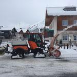 Holder C270 im Fräseinsatz Dorf