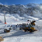 Abbauarbeiten Flexenarena Skiweltcup Zürs