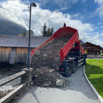 Baggerrampe schütten für Arbeiten Wasserbauamt, mit U530