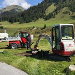 Jugendplatz Lech, erste Baggerarbeiten