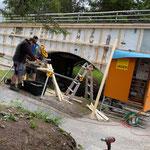 Fassadenbau Zugang Kinderbecken