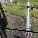 Eisplatz Zürs, Grabarbeiten für Elektroinstallation mit TB 216