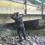 Brücke Kalberleger Geländer fixieren