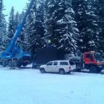 Drittleistung: Transport Handyfunkcontainer Rauz-Oberlech, mit U400