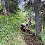 Provisorische Wegverlegung wegen Baustelle Zuger Bergbahn