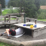 Renovierung Spielplatz Waldbad, Handbrunnen