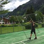 ACCR -  Zeltrückbau - Aufbau Tennisplatz Arlberg