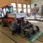 Holder C70 SC vorbereiten, Demontage der Nachlauffräse, Fräsencheck