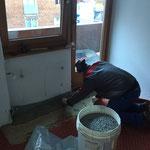 Gemeinde Renovierungsarbeiten 2015, Rohrbruch