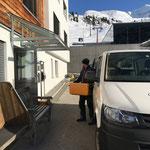 Jeden Montag + Donnerstag: Essensboxen abholen und retourbringen von der Kantine Hexenboden/Zürs für Mittagsbetreuung Neue Mittelschule/Kindergarten Lech