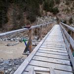 Geländerabbau Brücke Bodenalpe