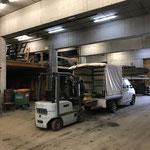 Weihnachtsmarkt Lech - Abbau: Versorgen von Materialien