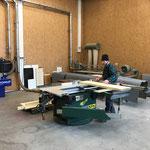 Arbeiten in der Tischlerei für Brandschutztüren Feuerwehrhaus