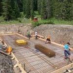 Projekt Zuger Säge, Vorbereitungen für Betonierarbeiten Bodenplatte