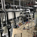 Arbeiten im neuen Technikraum