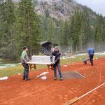 Tennisplatz Waldbad winterfest machen