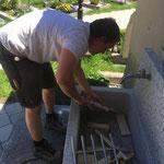 Einrichten Friedhofbrunnen neu