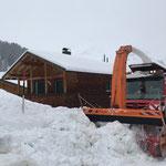 Unimog 530, Schneedepot in Stubenbach fräsen