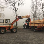 Retourfahrt Dalaas-Lech: Gemeinde - Schnittholz aufladen, mitnehmen...