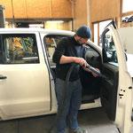 Fahrzeugpflege in der Werkstatt