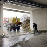 Tunnel Oberlech, Wascharbeiten