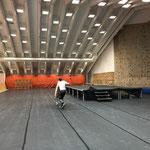 Stuhltransport im sport.park.lech für Veranstaltung Maschinenring