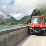 Baggertransport Spullersüdmauer, U400 und Hakenhänger mit Kipper