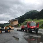 Hütten aufladen mit U400 und L509 für Arlberger Musikfest