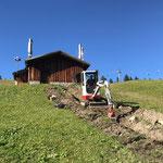 Baggerarbeiten für LWL-Leitungen Wasserhochbehälter Tannberg