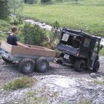 Spullerbachweg: Wegebau mit Polaris
