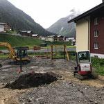12. Juni: Baggerarbeiten an der Seilbahn