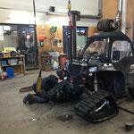 Polaris Sportsman ACE, Raupenfahrwerk montieren