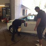 Elektroauto Gemeindeamt neu bekleben