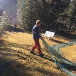 Tennisplätze Waldbad Lech abbauen