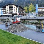 Sohle Lechbach absenken gedeckte Brücke