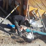 Wasseranschlussarbeiten Pension Stäfeli