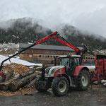 Holzarbeiten beim Heizwerk Zug