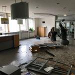 Übersiedelung ins Gemeindeamt und Abbruch Bürgerservice
