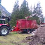Waldbad Lech - Bauschutt laden mit Steyr 6190 CVT, Bigab-Hänger
