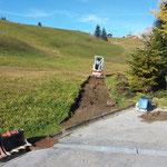 Neutrassierung (auf Winterwanderwegroute) Wegabschnitt Goldener Berg - Gipsbach