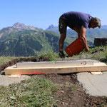 Projekt Türen: Sockel betonieren beim Taurin
