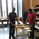 Projekt Zuger Säge, Spannschalung für Gerinne fertigen