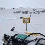 Wegabschnitt sperren Winterwanderweg Tannegg-Runde Oberlech