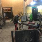 Heizwerk-Lader Verlängerungsarm neu konstruieren in der Schlosserei