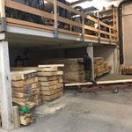 Holzlager aufräumen