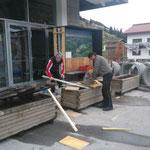 Umbau Infopoint Postgarage 2. Teil