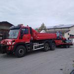 Transportfahrt mit Unimog 530, Kleinwalsertal - Hirschegg und Firma Kugelmann, Rettenbach - Allgäu