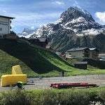 Sanitärinstallationen am Schlosskopfparkplatz von Gore-Tex-Transalpine-Run abbauen