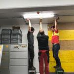Dachbodenstiege montieren Heimatmuseum Feuerwehrhaus